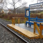 station de train,directement sur le sentier!